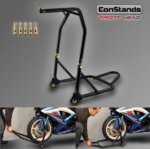 6 opinioni per Cavalletto moto alzamoto anteriore canotto sterzo ConStands Front Head nero