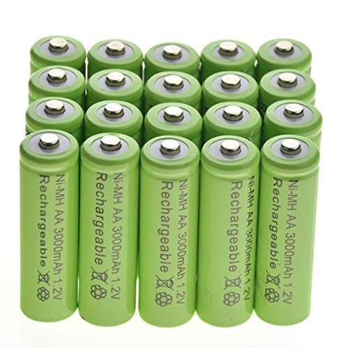 20 AA Rechargeable Batteries NiMH 3000mAh 1.2v Garden Solar Ni-MH Light LED US