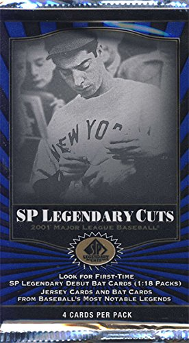 - 2001 Upper Deck SP Legendary Cuts Baseball Hobby Pack