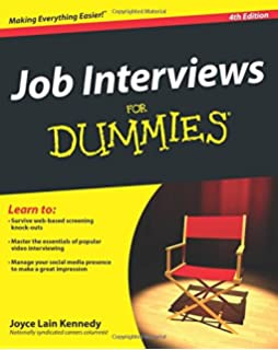 Job Interviews For Dummies  Resumes For Dummies