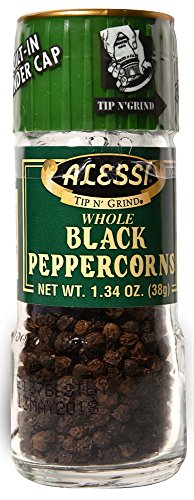 Alessi Whole Black Peppercorn Grinder -- 1.34 oz