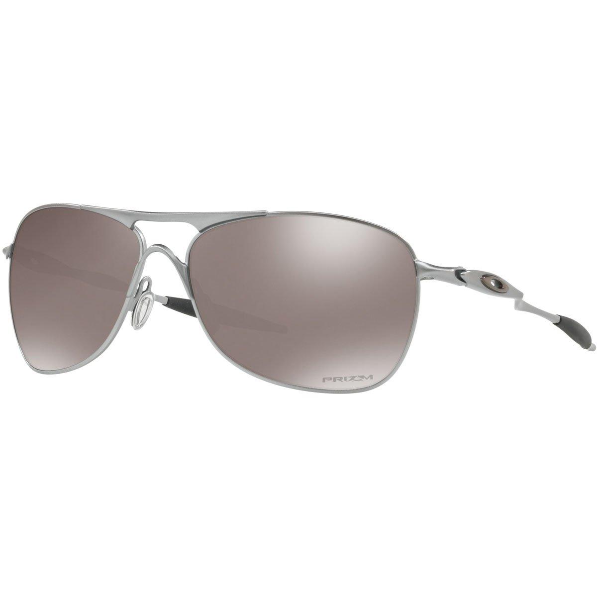 Oakley Men's OO4060 Crosshair Aviator Metal Sunglasses, Lead/Prizm Black Polarized, 61 mm by Oakley