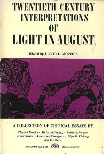 com faulkner s light in a collection of critical com faulkner s light in a collection of critical essays 20th century interpretations 9780135366073 david l minter books