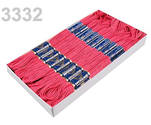24pc 3332 Pink Lemonade Cotton Embroidery Yarn Mouline Nitarna Czech Rep, Knitting, Crochet, Haberdashery