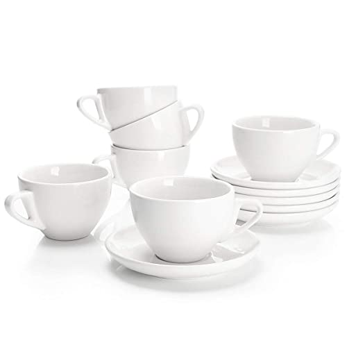 Sweese Porcelain Cappuccino Cups With Saucers