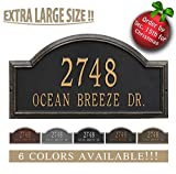 Personalized Cast Metal Address plaque - The Providence Arch (Large Option, 22.5'' wide) . Display your address and street name. Custom house number sign.