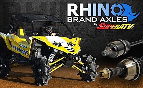 - Stock Length REAR Axle SuperATV Heavy Duty Rhino Brand Rear Axle for Polaris RZR XP Turbo 2016+ Upgrade From Your OEM Axle!