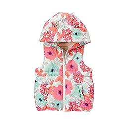 Gerber Little Girls\' Toddler Floral Print Vest, Multi, 2T