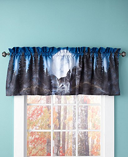 The Lakeside Collection Wolf Pack Window Valance