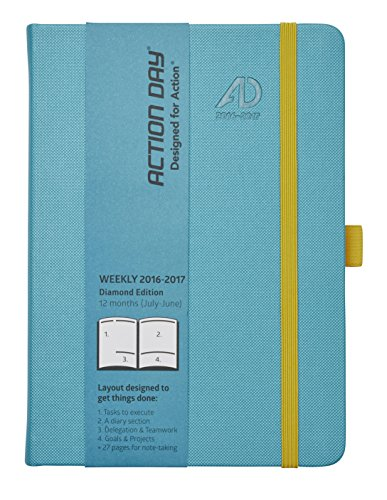 Action Day Planner 2016 - 2017 Academic Calendar : Daily Weekly Monthly Yearly Organizer & Goal Journal - Designed to Set Goals & Get Things Done ( 6 x 8 / Thread-Bound / Turquoise )