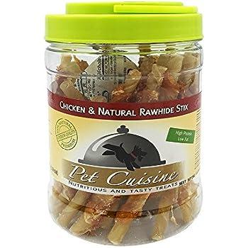 Pet Cuisine Dog Treats Puppy Chews Training Snacks,Chicken & Natural Rawhide Stix,12 oz