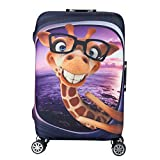Water-Resistant Luggage Cover Protector Elastic Dust Suitcase Cover Trolley Case Cover 19-28 inch Luggage Purple S