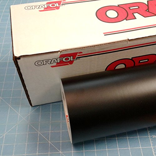 "Roll of Matte Oracal 631 Black Removable Vinyl Works with All Vinyl Cutters (24""x10', Black)"