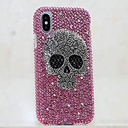 Pink Crystals Stones Case For iPhone Max