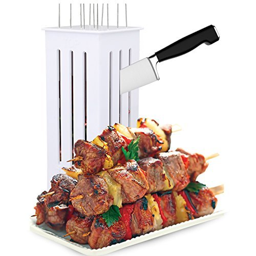 [Quick Kabob Express Shish Kabob Brochette Maker + 16 Stainless Steel Skewers, Model: NA , Home & Outdoor Store] (Cook Shish Kabob)