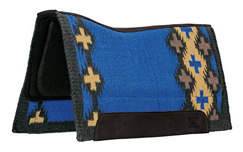 Weaver Leather 35-9337-C2 Synergy Contoured EVA Sport Foam Saddle Pad - Orthopedic Felt Liner, Blue/Gold, 33