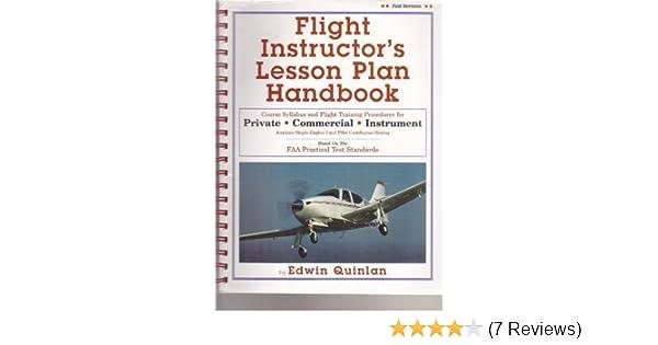 Flight Instructors Lesson Plan Handbook First Revision Edwin