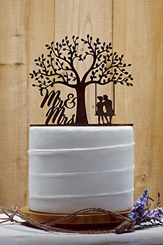 Amazon Com Country Tree Wedding Cake Toppers Bride And Groom With