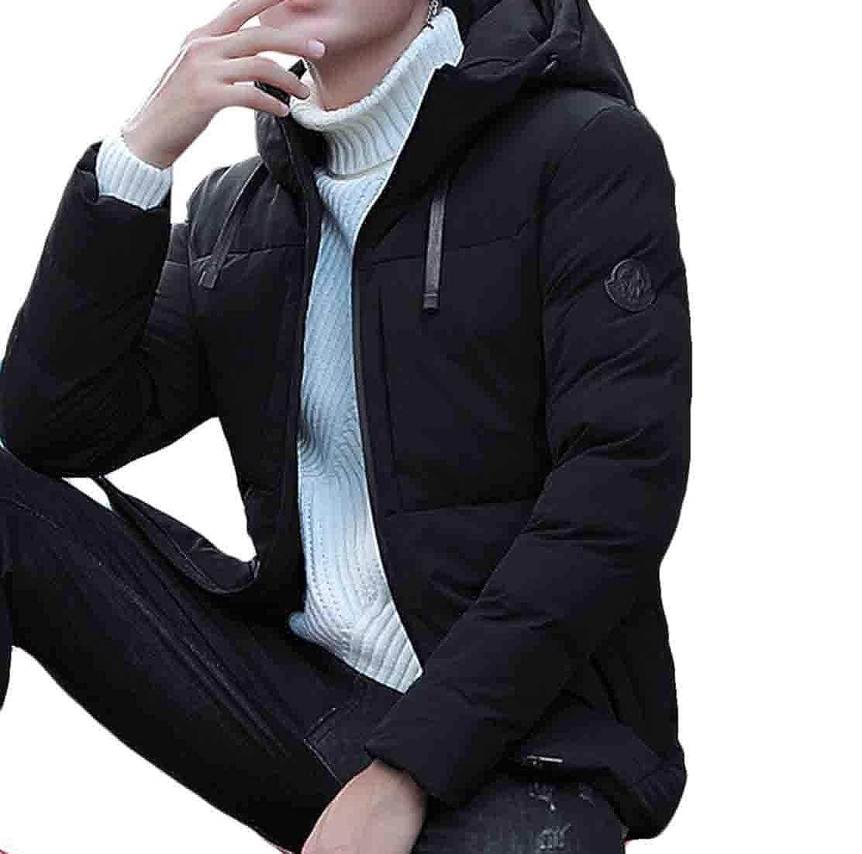 XQS Men/'s Packable Down Jacket Hood Lightweight Winter Puffer Coat Outerwear