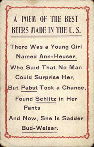 A Poem of the Best Beers Made in the U.S Breweriana Original Vintage Postcard from CardCow Vintage Postcards