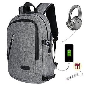Zaino per Computer portatile, zaini per computer di ricarica per notebook e tablet da 15,6 pollici, zaino da viaggio… 7 spesavip