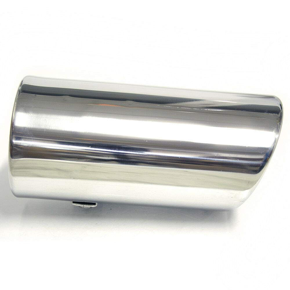 Universal 0013 Car Exhaust Tip Trim End Pipe Tail Sport Muffler Stainless Steel Chrome
