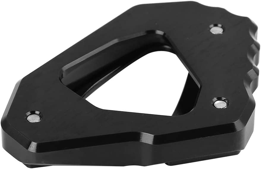 F FIERCE CYCLE Black Motorcycle Kickstand Pad Extension Foot Side Stand Plate for Yamaha MT10