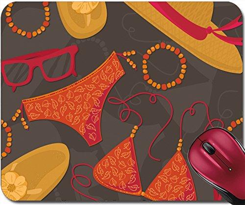 Liili Mousepad ID: 25665160 bikini hut sunglasses bracelets flip flops summer outfit illustration elements on dark background - Sunglass Hut Prices