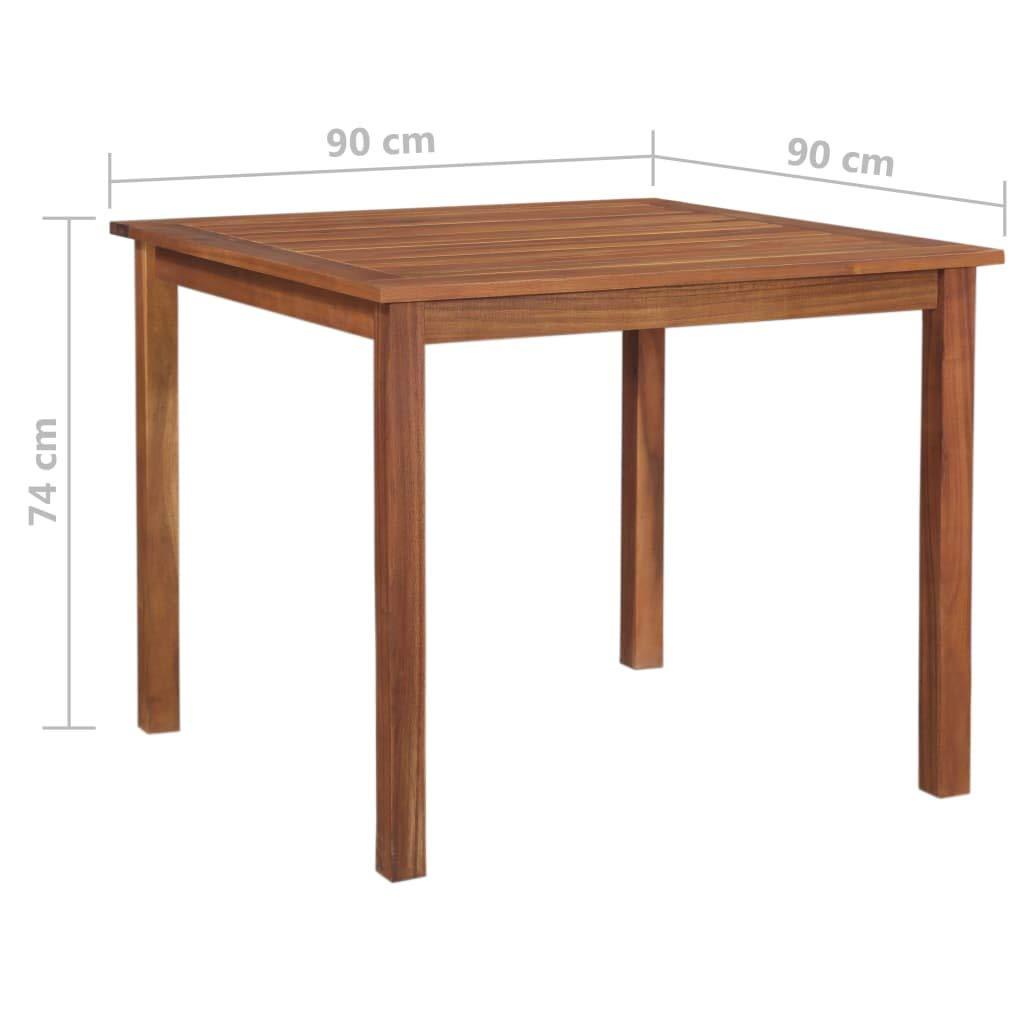 Tavolo da Esterno in Legno Massello di Acacia 90x90x74 cm Festnight Tavolo da Pranzo