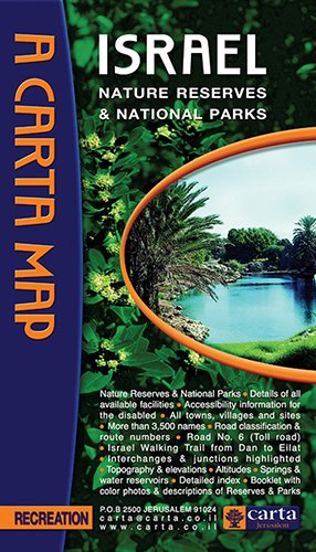 Carta Map Israel Nature Reserves & National Parks