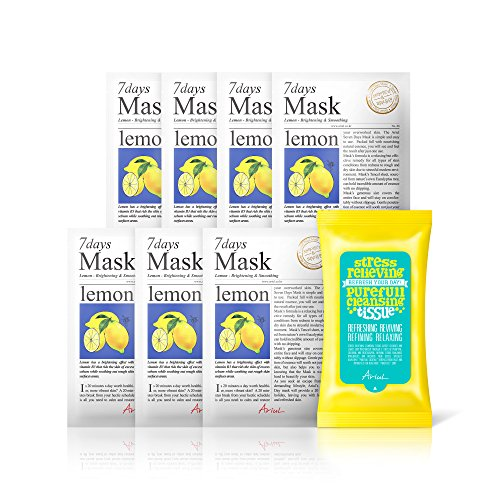 Ariul Natural Lemon Sheet Mask for Oily Skin, Brightening &
