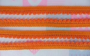 Orange Mini Pompom Ball Fringe Dangle Trim Lace Embellishments DIY Craft Needlework 36 Yards