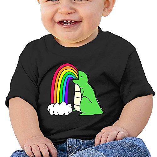 [DVPHQ Baby's Rainbow Dinosaur Cartoon Tee Little Boy's & Girl's Black Size 12 Months (6-24 Months)] (Dwayne Johnson Baby Costume)