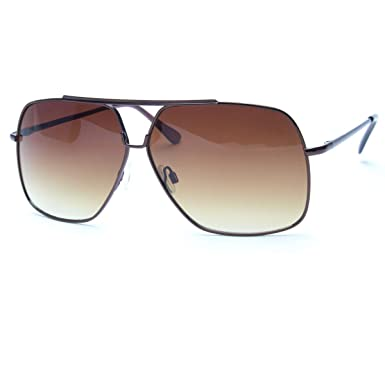 40f1aee83f6c Amazon.com  Classic Retro Mens Fashion Metal Aviator Vintage Designer Large  Sunglasses Black  Clothing