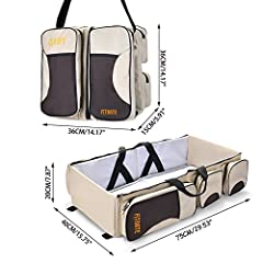 Multi-function Baby Diaper Bag with Multi-pockets can Let YourTravel More Relaxing and Interesting !  We has put a lot of work into improving the 3 in 1 Travel Bags strength and overall design and have made the bag safer to keep baby free fro...