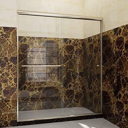 (SUNNY SHOWER Semi-frameless Shower Door 1/4