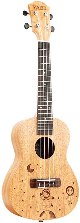 QLJ08 Ukelele de concierto de 21 pulgadas 4 cuerdas de nylon Sapele mini guitarra acústica Guitarra Uku Ukelele Mahogan blanco