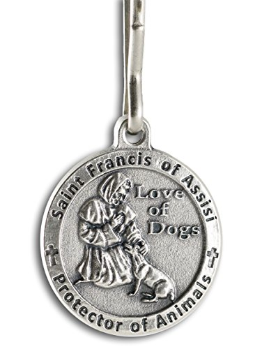 Assisi Medal - The Christian Mint, LLC St. Francis of Assisi Pet Medal for Dogs with Capsule of Assisi Soil