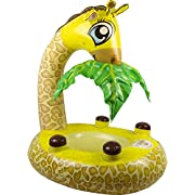 Poolmaster 81543 Learn-to-Swim Giraffe Baby Float Rider with Leaf Canopy