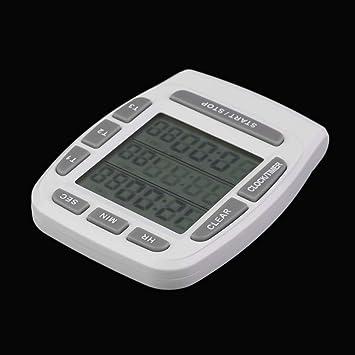 1 Unidades Triple Reloj Timer Cocina Cocina 3-Line Alarma ...