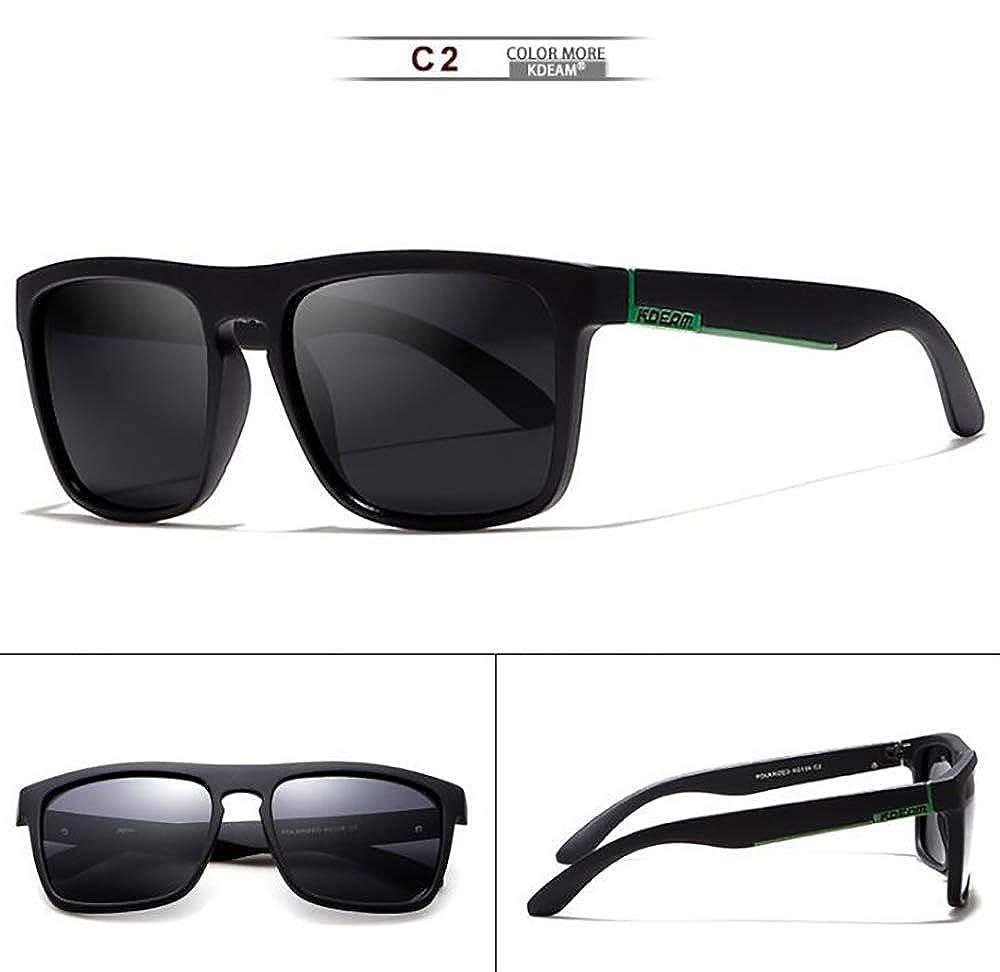 ruhation Europe and The United States Tide Polarized Sunglasses Square Sports Casual Sunglasses Unisex Outdoor Sunglasses