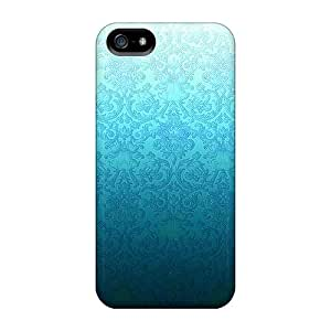 Durable Blue Damask Back Cases/covers For Iphone 5/5s