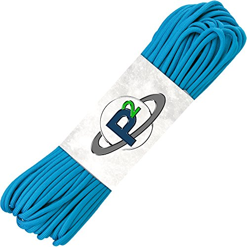 PARACORD PLANET Mil-Spec Commercial Grade 550lb Type III Nylon Paracord (Colonial Blue, 50 feet)