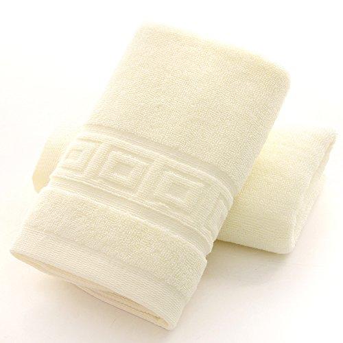 mmynl Pure algodón lavado toallas de cara de pelusas hembra par 75 x 35 cm, color amarillo: Amazon.es: Hogar