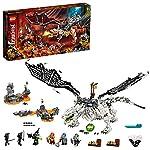 LEGO NINJAGO Drago dello Stregone Teschio, Giocattolo da Costruire e Gioco da Tavolo 2in1 con le Figure dell'Esercito… LEGO