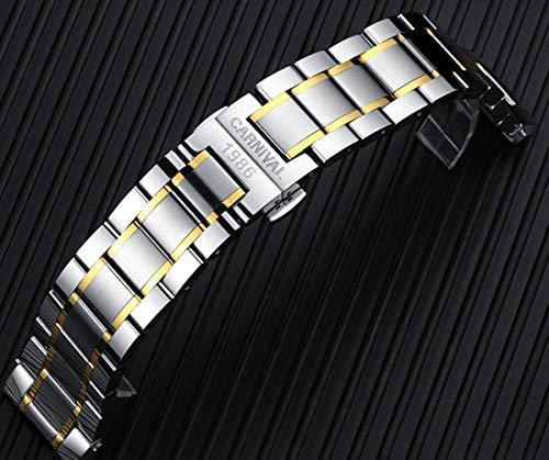 CARNIVAL Automatisk klocka män rostfritt stål design mekaniska klockor lysande herrklocka Colora