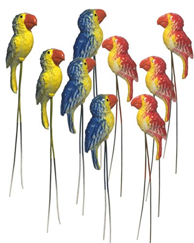 20 pcs. Terrarium Mini Parrot Stake Miniature Dollhouse Fairy Garden Accessorie For Sale