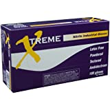 Ammex XN Xtreme Blue Nitrile Glove, Latex Free, Disposable, Powdered