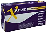 AMMEX - XN48100 - Nitrile Gloves - Xtreme - Disposable, Powdered, Industrial, 4 mil, XLarge, Blue (Case of 1000)