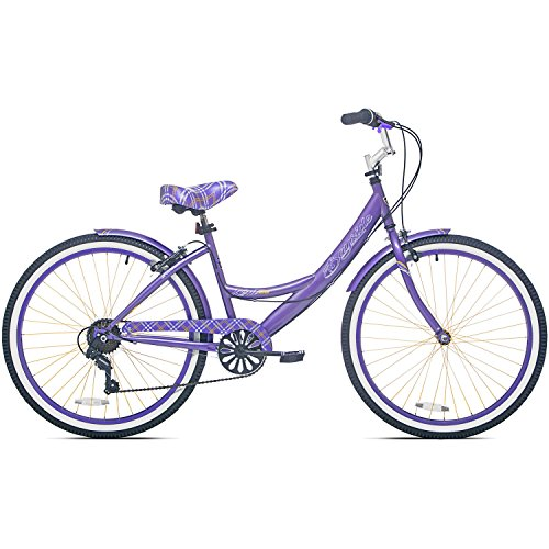 26 Inch 7 Speed Aluminum Frame Front & Rear Brake Kent Adult Cruiser Bike for Women with Fenders by Kent